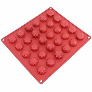 Silicone Mold, Chocolate Candy Ice Soap For Chocolate, Gummy, Flower, 30-Cavity