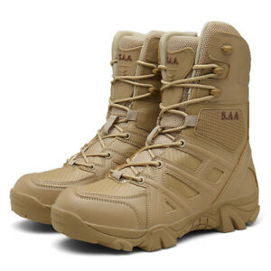 Men's Outdoor Hiking Combat Military Boots Shoes for Camping Tactical Desert New