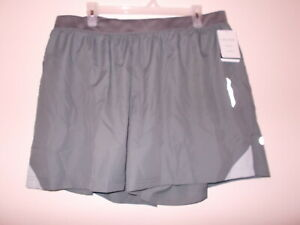 C9 Champion Women's Size XXL Duo Dry Grey Athletic Shorts With Inner Brief