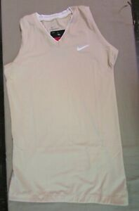 New NWT Nike Womens Compression Sleeveless Training Dri-Fit Top Shirt Vegas Gold