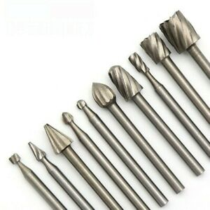 10x High Speed Steel Rotary Drill Wood Carving Electric Grinding Accessories DIY
