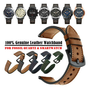 20mm 22mm Premium Genuine Leather Watch Band Strap Bracelet for Fossil Watch $10.99