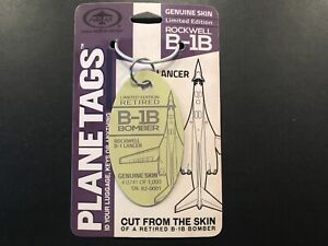 B-1 Lancer Plane Tag #0741 Out Of ONLY 1,000 Super Rare Cream Color Military