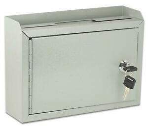Wall Mount Suggestion Box Drop Box Mail Payment Bill Letter Key Lock Secure NEW