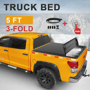 Truck Bed 5FT SET For 2015-2019 Chevy Colorado WT LT GMC Canyon Tonneau Cover