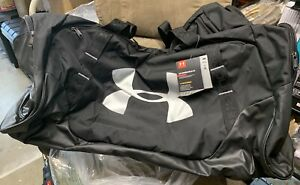 Under Armour Undeniable Duffle 3.0 Gym Bag BLACK 001 Silver X LARGE New