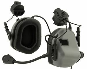 Earmor M32H MOD3 Tactical Communication Hearing Protector for FAST Helmet Gray