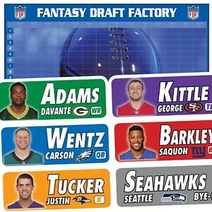 ⚡️ Fantasy Football Draft Kit 2019 ⚡️ Large Font Labels • Standard Board