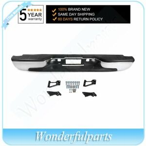 NEW Complete - Chrome Rear Bumper For 1999-2006 Chevy Silverado GMC Sierra 1500