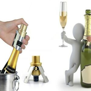 Bottle Stopper Vacuum Pump Stainless Steel Sealed Red Wine Champagne Plug Caps