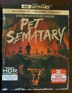 PET SEMATARY 1989 4K UHD + BLU-RAY + SLIPCASE + DIGITAL BRAND-NEW SEALED FREE