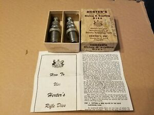 Herters 32 Special Jacketed Bullet Dies Sizing and Seating Die with Original Box