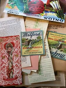 Junk Journal Huge Lot One of a Kind Ephemera and Vintage Over 100 Pieces