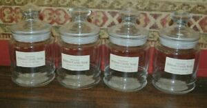 Lot of 4 Vintage Crabtree & Evelyn Apothecary Jars 4.5