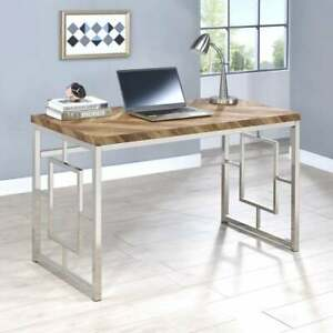 Modern Herringbone Design Home Office Computer Writing Desk