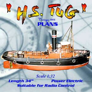 Full Size Printed Plans Scale 1/32 single screw L 34
