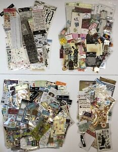Huge Lot 313 Packages Stickers Rub-ons Die Cuts Embellishments Accents