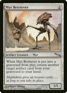 OtBG MTG Magic Uncommon LP Light Play Myr Retriever  MRD Mirrodin