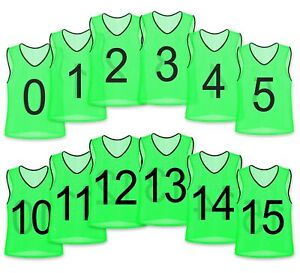Unlimited Potential Nylon Mesh Numbered Scrimmage Team Practice Vests Pinnies...