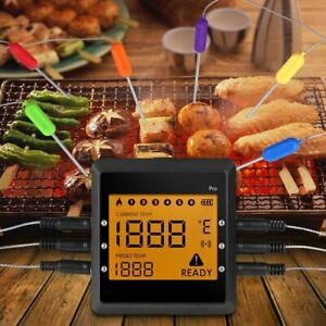 Wireless Bluetooth BBQ Thermometer 6 Probes Remote Digital BBQ Food Thermometer