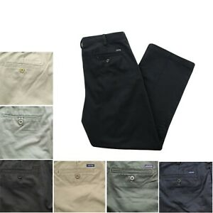 IZOD Mens American Flat Front Classic Fit Wrinkle Resistant Chino Khaki Pants