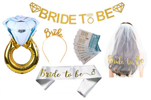 BRIDE to be BACHELORETTE Party Kit BRIDAL DECORATIONS Banner Wedding Balloon