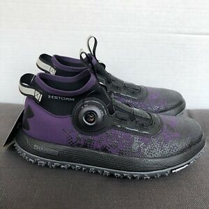 New Under Armour Fat Tire BOA Running Trail Shoes Boots Purple Black Womens Sz 7