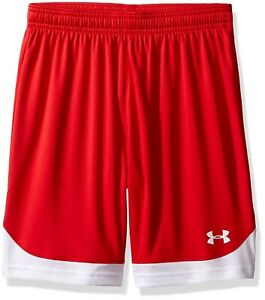 (Youth Small Red (600)) - Under Armour Boys' Maquina Shorts. Unbranded