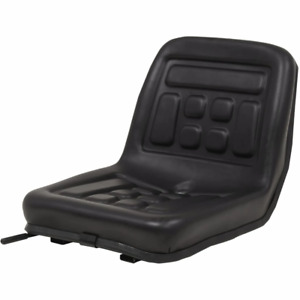 vidaXL Universal Tractor Seat with Drain Hole Black Durable Replacement Seat