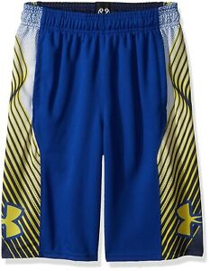 (Youth X-Small Royal (400)Taxi) - Under Armour Boys Space The Floor Shorts
