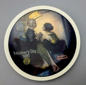 """Norman Rockwell Painted """"After The Party"""" 1981 Limited Edition Plate"""