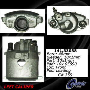 Centric 141.33038 Disc Brake Caliper Semi Loaded Caliper Front Left Reman $39.99