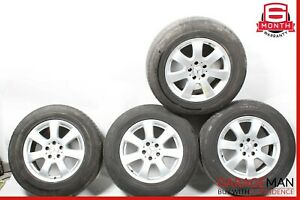06-11 MERCEDES W164 ML350 COMPLETE FRONT & REAR WHEEL TIRE RIM SET R17 OEM