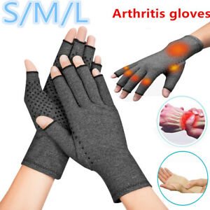 Copper Compression Gloves Arthritis Carpal Tunnel Hand Wrist Brace Support USA