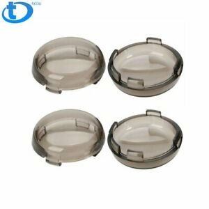 4x Smoked Turn Signal Light Lens Covers Fit for Harley Davidson Electra Glide US
