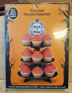 New Wilton Halloween Cupcake Stand Treat 3 Tier Display with Topper - Holds 24