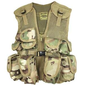 Fancy Dress Childrens Child's Youth Army Style MTP Camo Combat Assault Vest