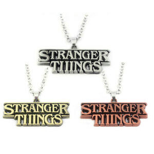 Stranger Things Necklace Alloy Letters Logo Pendant TV Jewelry for Fans Gift