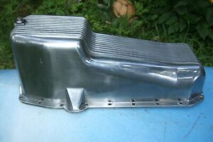 Die cast Aluminum Oil Pan SB Chevy V8 283~327~350 highly polished