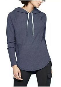 NWT Women's Blue Under Armour Waffle Hoodie S