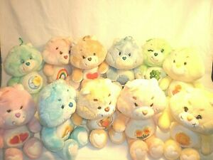 Vintage Care Bear Master Lot 11 Bears VERY RARE 80's Classic stuffed animals WOW
