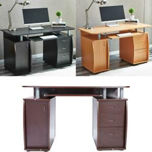 Corner Writing Table Computer Desk Home Office Student Study Workstation Work