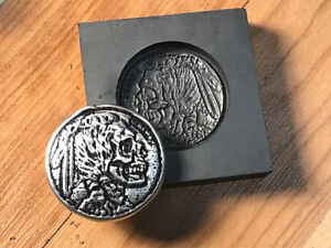 Hobo Nickle Indian Graphite mold for making 3D coins, pendants      PRO-MOLD AR8