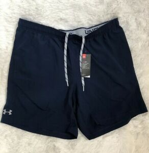 NWT Under Armour Mens Heat-Gear Loose Fit Athletic Workout Shorts Blue Sz XXL