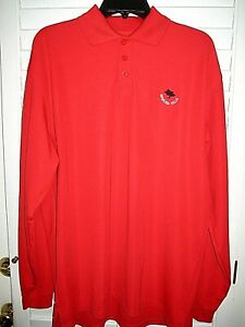 UNDER ARMOUR LOOSE fit heatgear Long Sleeve Red Golf Polo- 5% Spandex- NICE!