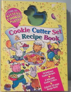 Come to KITTEN'S Cookie Party Cookie CUTTER SET & Recipe BOOK