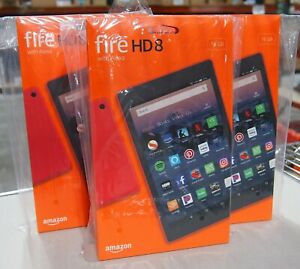 Amazon Fire HD 8 Tablet 16 GB Wi-Fi 8 inch - Punch Red - with Special Offers