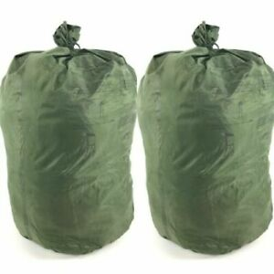 (2) US Army Military WATERPROOF CLOTHES Clothing GEAR WET WEATHER LAUNDRY BAG GC