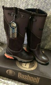 ~BUSHNELL~SNAKE BOOTS~NEW IN BOX~WATERPROOF BROWN SNAKEPRO BOOTS~WOMENS SIZE 5~