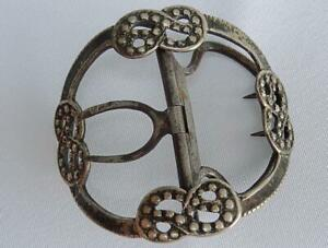 Georgian Shoe Buckle Silver Antique Sterling Hallmarked Knot Design 18th Century